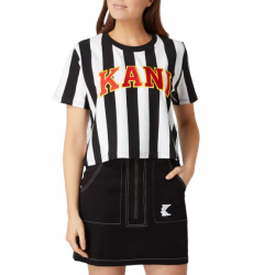 Karl Kani College Stripe Tee άσπρο/ μαύρο
