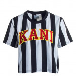 Karl Kani College Stripe Tee άσπρο/ μαύρο