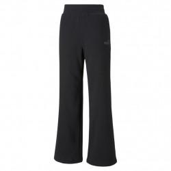 Puma ESS+ Embroidered Wide Pants FL Μαύρο