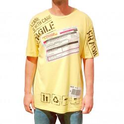 COMME des FUCKDOWN T-shirt κίτρινο