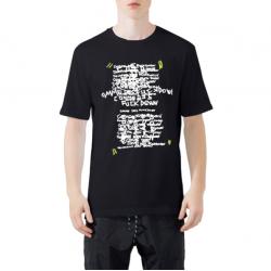 COMME des FUCKDOWN CDFU766 T-Shirt μαύρο