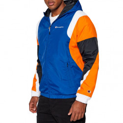 Champion  Rochester Hooded Full Zip Sweatshirt Μπλέ/Πορτοκαλί