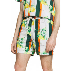 Karl Kani Signature Resort Shorts Άσπρο Πολύχρωμο