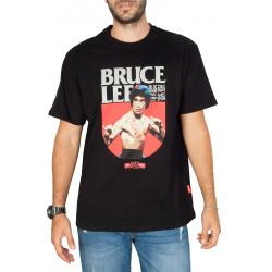 Sprayground Bruce Lee fight Τ-shirt Μαύρο