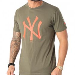 New York Yankees Team Logo T-Shirt Λαδί