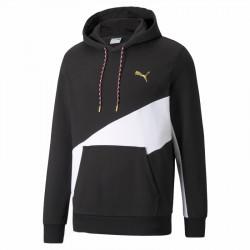 Puma AS Men's Training Hoodie Μαύρο / Άσπρο