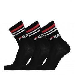 Fila Unique Lifestyle Socks 3 Pack μαύρο