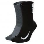 Nike Multiplier Crew Sock 2 Pack μαύρο/ γκρι