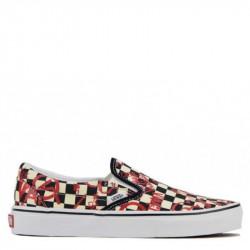 Vans Classic Slip-On Checkerboard Άσπρο/Κόκκινο