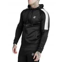 SIKSILK Zip Through Hoodie Detachable Sleeves  Μαύρο